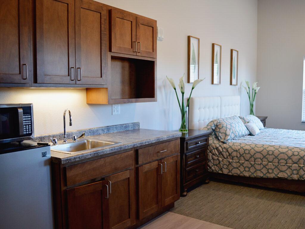 Spacious Companion Suite at Cambridge Senior Living