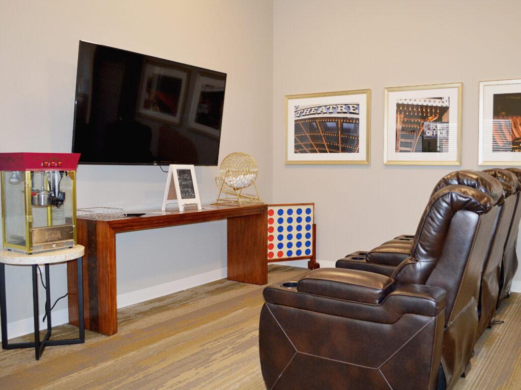 Theater Room at Cambridge Senior Living