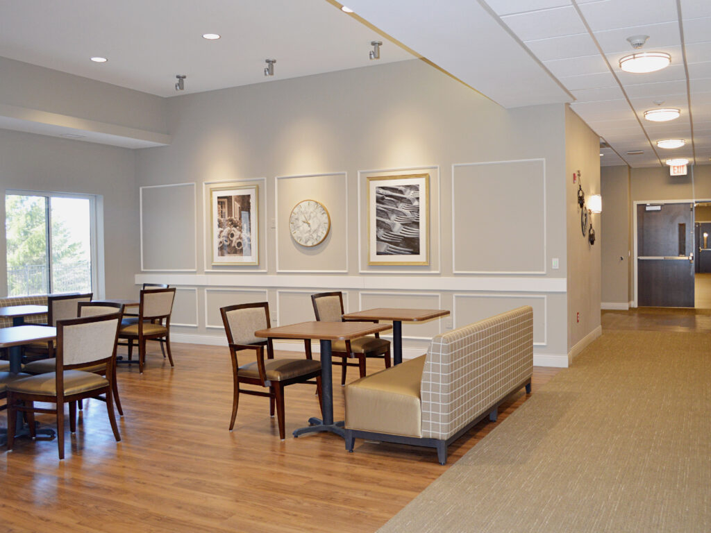 Spacious Dining Area in the Household Bistros at Cambridge Senior Living